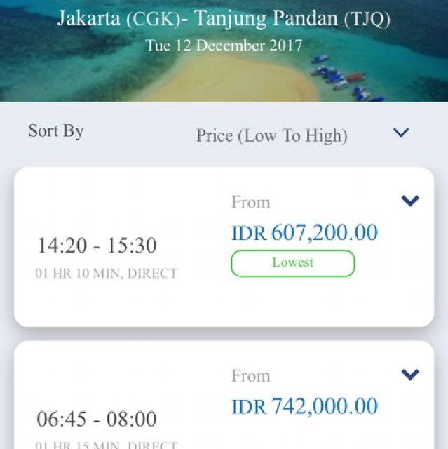 Tiket Pesawat Garuda Jakarta Belitung Pp