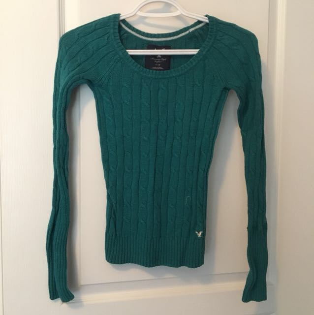 Turquoise AE sweater