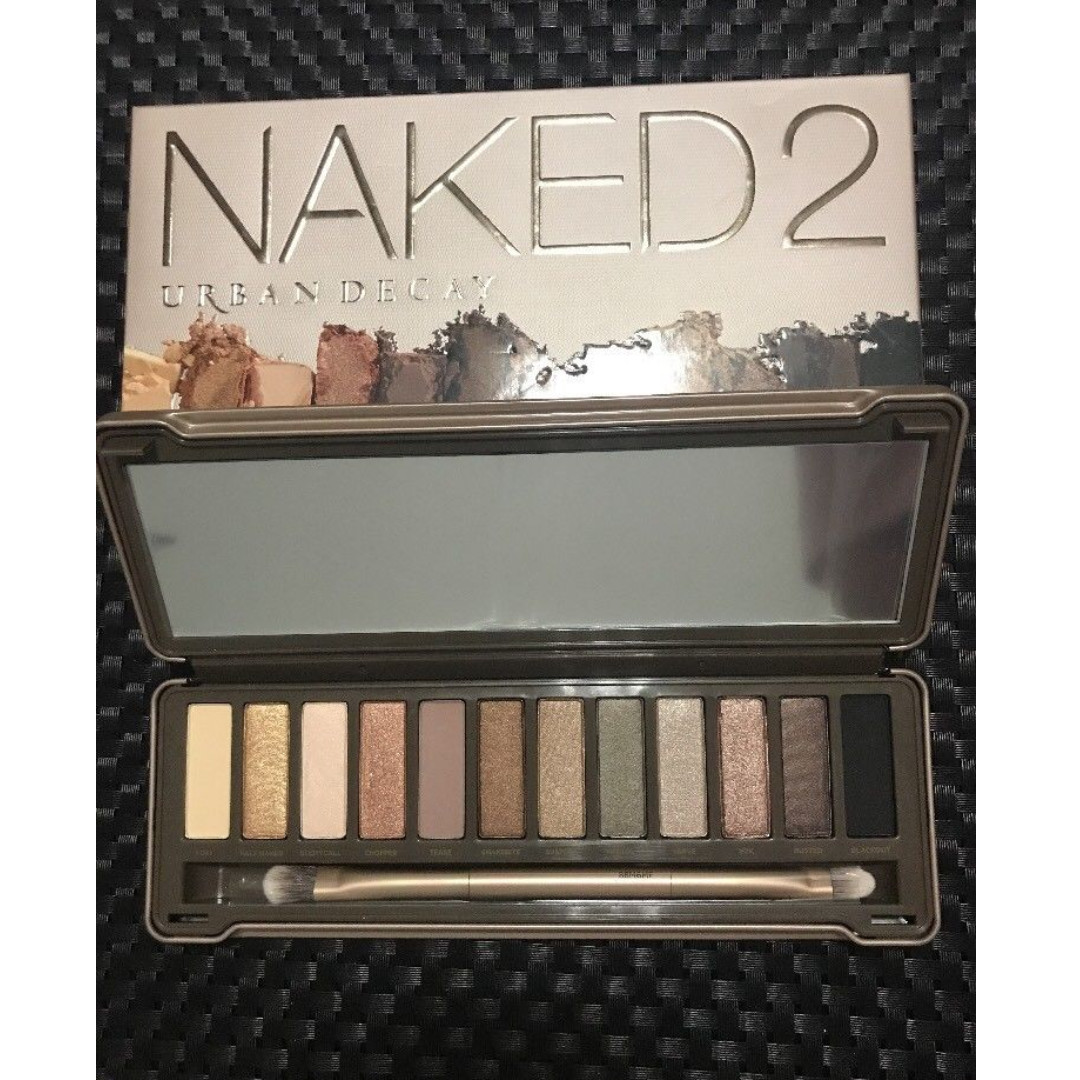 URBAN DECAY NAKED 2 Palette Eye Shadow AUTHENTIC 12 Shades & Brush NEW + AUTH