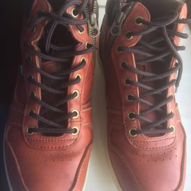 Vans leather boots for sale (US Size 10