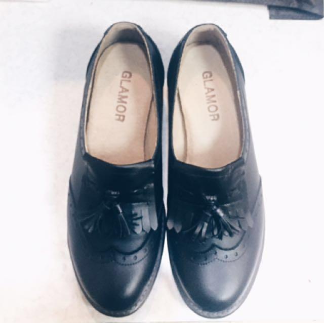 vintage手工小牛皮牛津鞋