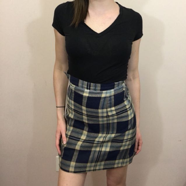Vintage plaid skirt size S or XS