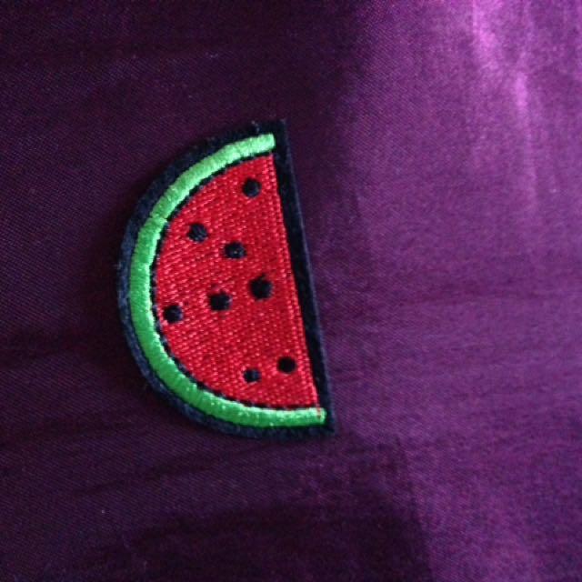 Watermelon Slice Iron On Patch