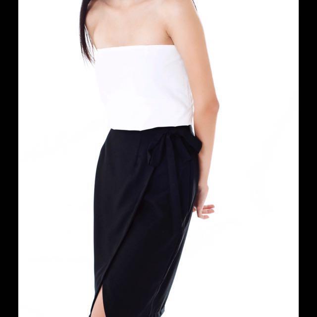 Weave PH black slit skirt