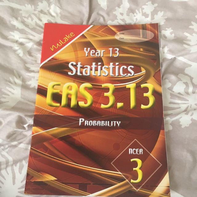 Year 13 Statistics EAS 3.13 Probability