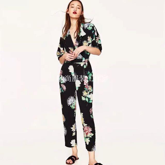 Zara Inspired! Floral Jumpsuit