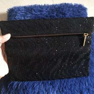 Pouch glitter (black)