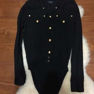 Gucci bodysuit shirt ( pre-loved )