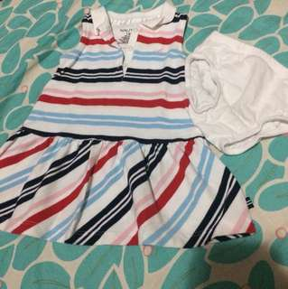 Preloved Nautica  stripe dress