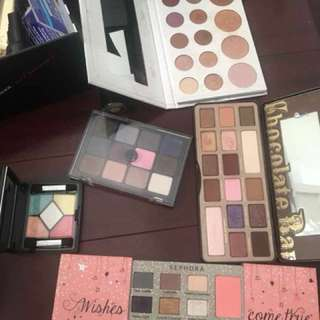 Assorted eyeshadow palettes