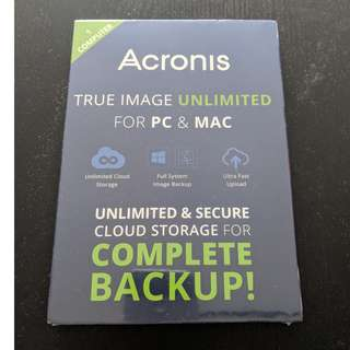 Acronis True Image Unlimited For PC & Mac