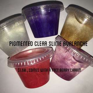 slimes-pigmented clear slime avalanche (unscented)