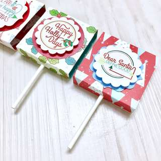 Christmas Organic Lollipops - party favours, goodie bags