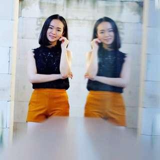 Celana Pendek Kuning Mustard Shorts
