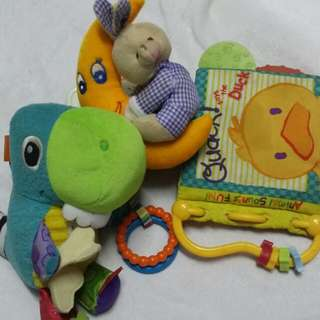 Combo toys and book for babies