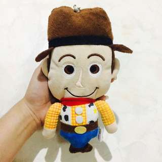 ORIGINAL TOKYO DISNEYLAND WOODY TOY STORY POUCH AND ID HOLDER ! ❤️