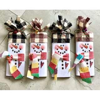 Christmas Snowman Hersheys Bar