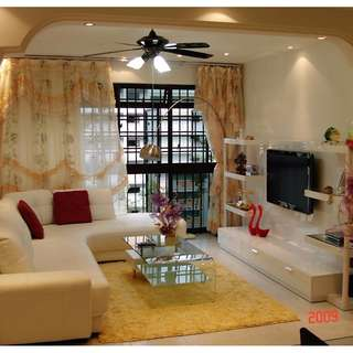 WOODLANDS BLK 524 HDB 4ROOM FOR SALE CORNER UNITE MID FLOOR NICE LAYOUT
