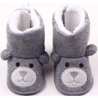 寶寶 小熊加絨造型雪靴 12cm 保暖