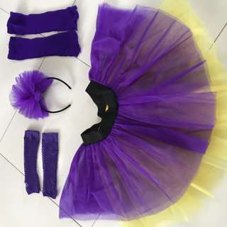 Neon 80s Tutu Skirt Set Fancy Dress
