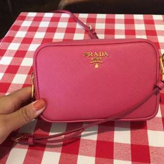 AUTHENTIC Prada Saffiano Mini Zip Crossboy Camera Bag