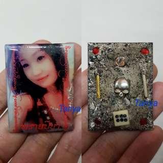 Thai amulets Prai Miss Peeya Lucky Fortune Love Success Whispering Luck by Kruba Deth Kitiyano, Pacha Rattanakosint Genuine Occult sorcery Barang