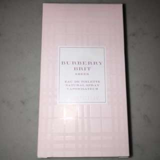Burberry Brit - Sheer - Brand New! Never Used!!! 50ml