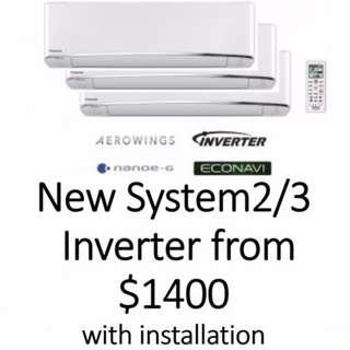 Aircon System 2/3  Inverter Installation Services