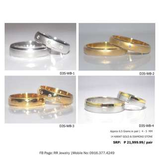 14 Karat Two Tone Wedding Ring