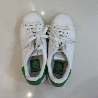 Paperplanes Green/White Sneakers