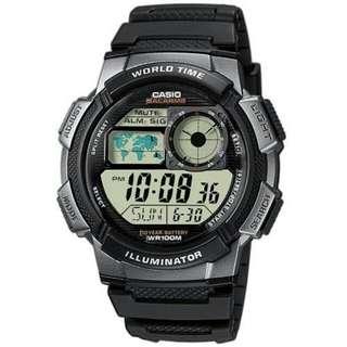 Casio Youth Men's Black Resin Strap Watch AE-1000W-1B