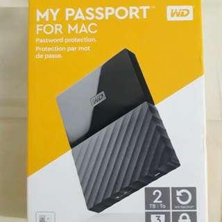 [SEALED] Western Digital 2TB My Passport for MAC