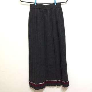 針織百折長裙