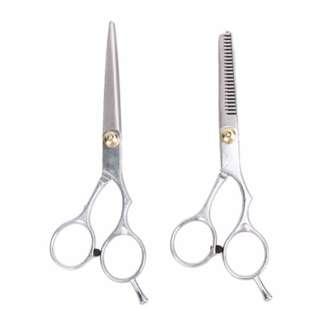 Hairdressing Set Regular Hair Cutting Scissors and Thinning Scissors