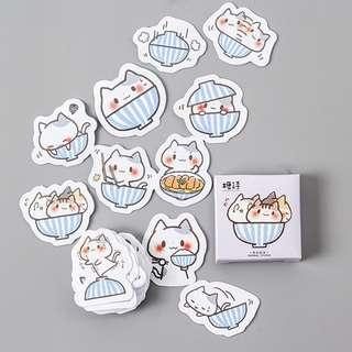 Playful Kitties in Bowl Scrapbook / Planner Stickers #60