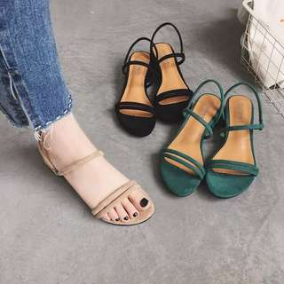 Korean style women Suede high sandals