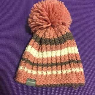 針織大毛球毛帽