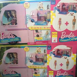 Barbie Camper Barbie & Ken Beach Doll Playset