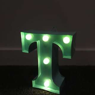 Typo letter light