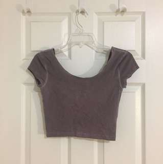 Purple Garage Crop Top