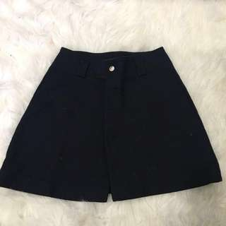Zara Navy Skirt