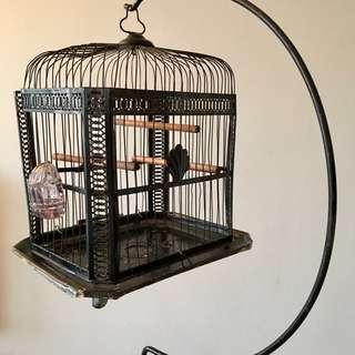 Vintage Bird Cage & Stand