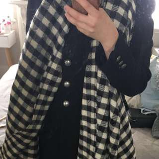 Checked gingham Zara scarf