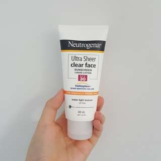 NEUTROGENA ACNE PRONE SUNSCREEN