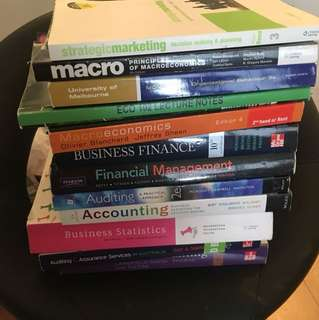 Accounts, macroeconomics, business stat & finance