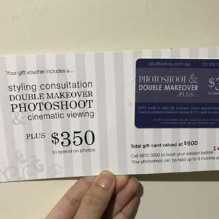 Perfect gift voucher for Christmas or New Year album