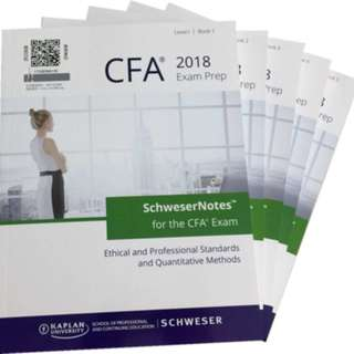 2018 CFA Level 1 Schweser Study Notes