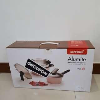 HappyCall Alumite 3 Pieces Set Pink Edition