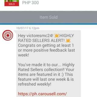 Thank u po carousel and sa mga buyers..