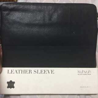 """Kuhvuh Leather Laptop Sleeve for Macbook Air 11"""""""